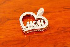 925 Sterling Silver Mom Heart Pendant