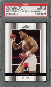 Muhammad Ali 2010 Leaf Ali National Convention Promo #'d 157/299 PSA 10 Gem Mint