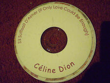 CD CELINE DION S'IL SUFFISAIT D'AIMER IF ONLY LOVE COULD BE ENOUGH 1998 12 SONGS