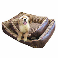 Deluxe Coffee Color Large Dog Bed Cat Pet Pillow Fleece 90 X 70 Cushion Basket