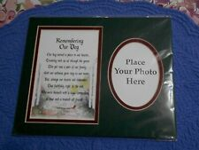 Framing Photo Mat Remembering Our Dog Poem Double Mat