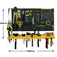 Garage Shed Workshop Wall Tool Storage Rack Kit Inc 50 Tools Hooks Storage
