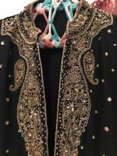 Embellsihed Indian Pakistani Bridal Dress Gown Gold Handmade Work Embroidered