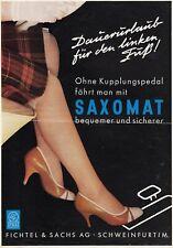 FICHTEL SACHS SAXOMAT Kupplung Prospekt Brochure Sheet 1957 A