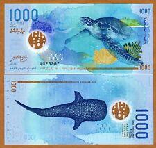 Maldives, 1000 Rufiyaa, 2015 (2016), Polymer UNC > New Design