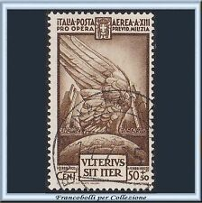 1935 Italia Regno Milizia IVª cent. 50 + 50 bruno n. A 89 Usato []