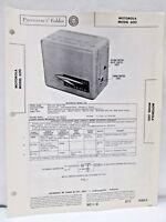 Vintage Sams Photofact Folder Radio Parts Manual Motorola Model 600