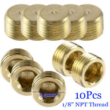 "10pcs 1/8""NPT Brass Internal Hex Thread Socket Pipe Plug"
