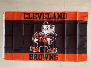 Cleveland Browns New Wordmark Flag 3X5 FT Football NFL Banner Polyester