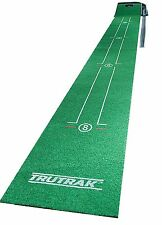 Tru Trak Golf Putting Practice Mat Green with Distance and Putting Stroke Guide