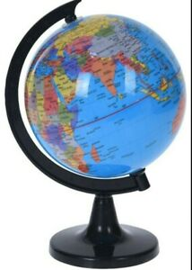 23cm Plastic Rotating World Globe Map Atlas Kids Childrens Bedroom Decoration