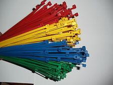 200 Stck Kabelbinder grün 370 x 4,8 mm Industriequalität Sichtschutz  *