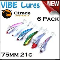 Fishing Switchblade Blade VIBE Metal Lures 75mm Flathead Bream Snapper Jewfish