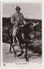 KING GEORGE V - Horse Riding - Raphael Tuck #T1443 - 1910s era used postcard