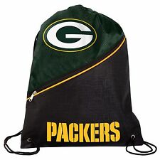 Green Bay Packers High End Diagonal Zipper Drawstring Bag NEW Backpack sack