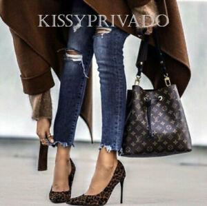 ZARA Black & Tan Leopard Animal Printed High Heel Stiletto Shoes 6 39 BNWT