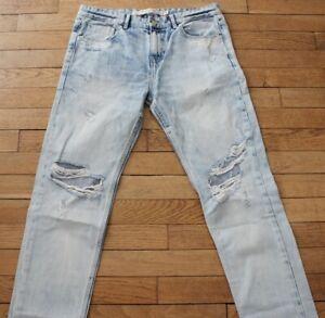 ZARA PREMIUM WASH Jeans pour Homme W 26 - L 32  Taille Fr 36  (Réf # O182)