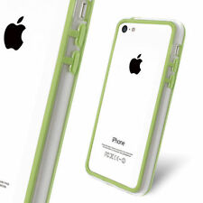 Nuovo Bumper slim per Apple iPhone 5C colore verde trasparente