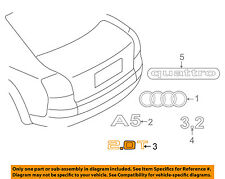 AUDI OEM 05-17 A4 Quattro Trunk Lid-Emblem Badge Nameplate 8H0853743H2ZZ