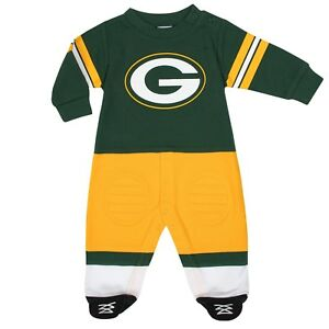 Green Bay Packers Baby Toddler Footysuit, NFL Gerber Infant Kids Wear