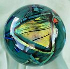 Signed+SHAWN+MESSENGER+Paperweight+Graphic+Evolution+1993+Art+Glass+Gorgeous+