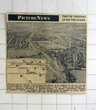 1957 Aerial View Of Progress On The New Cheadle Bypass