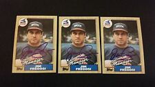 Jim Fregosi White Sox 1987 Topps #318 Angels Signed Authentic Autograph JA15