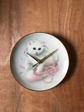 Ballarina Kitty, 8 1/2 Inch Plate Clock -