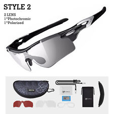 ROCKBROS Photochromic Sunglasses Polarized Lens Cycling Glasses Eyewear