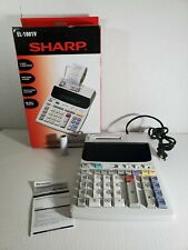 Sharp El-1801V 12-Digit 2-Color Printing Electronic Adding Machine Calculator