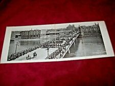 Vintage 1918 Panoramic Military Parade Photo in Rockford, Il. 3rd Liberty Loan