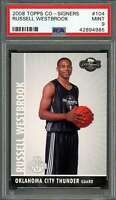 2008-09 topps co-signers #104 RUSSELL WESTBROOK okc thunder rookie card PSA 9