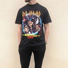 Vintage 1993 Def Leppard T-Shirt Mens Large European Tour Top Black