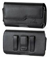 AGOZ Premium Leather Belt Clip Case Pouch Holster with Otterbox Defender on it