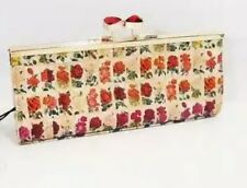 NWOT Ted Baker IRINKA Roses In A Row Printed  Matinee Cosmetic Case Msrp $165.00