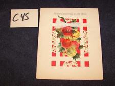 C45 VINTAGE 1960'S HALLMARK MERRY CHRISTMAS TO MY WIFE CARD