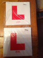 Learner L Plates for Motorcycle or Scooter Rigid & Sticky Motorbike L Plate Set