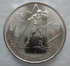2009 CANADA 25¢ OLYMPIC CROSS COUNTRY SKIING BRILLIANT UNCIRCULATED QUARTER