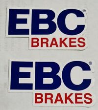GENUINE EBC Racing Brakes Stickers High Quality Official x 2