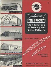 Mro Brochure International Steel Building Truss Hangar Arch C1952 Mr200