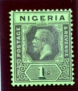 Nigeria 1921 KGV 1s black/bright green (Die II) superb MNH. SG 26 var. BK G35a.