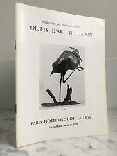Catalogue sales Objects Art Japan Hotel Drouot 26 May 1970