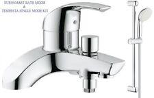 GROHE Eurosmart Lever Bath Shower Mixer Tap Slider Rail Kit 25105000 + 27924001