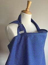 SALE Breastfeeding Apron/Cover  ROYAL WHITE SPOT Made in UK cotton