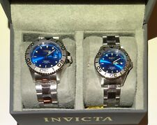 Set Invicta watch New Stainless steel Blue Dial color Unisex Free Shipping