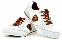 Mens Lace Up Leather Trainers Casual Running Designer Shoes Walking Gym JAS Size