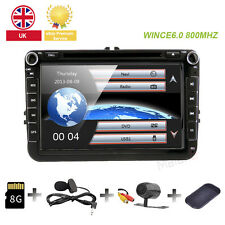"VW Golf MK5/MK6 SKODA SEAT LEON 8""Car DVD Player Sat-Nav GPS Bluetooth RADIO 3G"