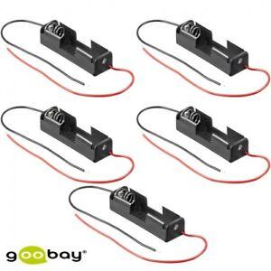 5 x Batteriehalter, Akkuhalter 1x Mignon AA, Kabel ,Batteriefach, Akkufach, (200