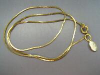 "JOAN RIVERS Vintage GOLD TONE COBRA CHAIN NECKLACE Skinny Snake 18"" LONG"