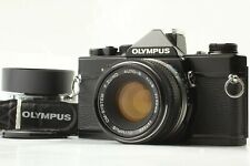 [Exc+5] Olympus OM-1 Black 35mm SLR Film Camera F.Zuiko-S 50mm F/1.8 Lens JAPAN